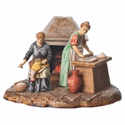 Kitchen nativity figurines 10cm Moranduzzo s1