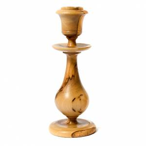 Kommunionkerzenhalter: Klassischer Kerzenständer aus Olivenholz