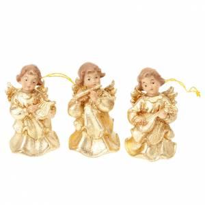 Christbaumschmuck aus Holz und PVC: Klein Musiker-Engel um zu haengen