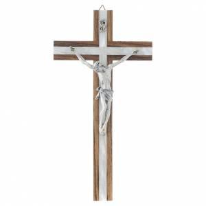 Kruzifixe aus Holz: Kruzifix Holz kuenstliche Mutterperl