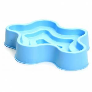 Pompe acqua presepe e motorini: Laghetto blu in plastica presepe