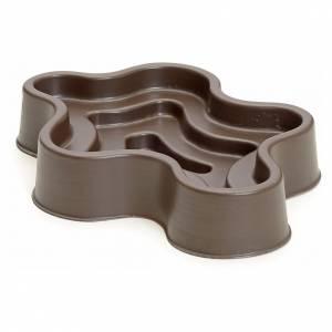 Pompe acqua presepe e motorini: Laghetto marrone in plastica presepe