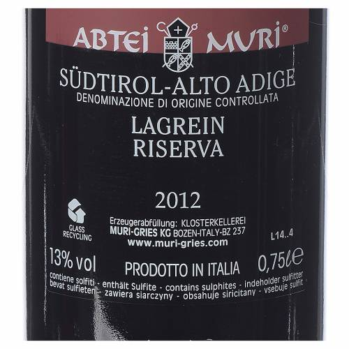 Lagrein DOC 2012 Muri Gries 750ml s2
