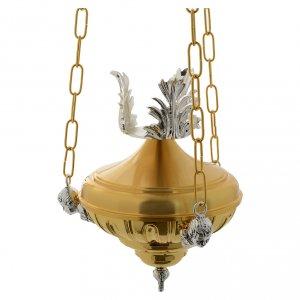 Lampada a sospensione Santissimo 20 cm ottone angeli s1