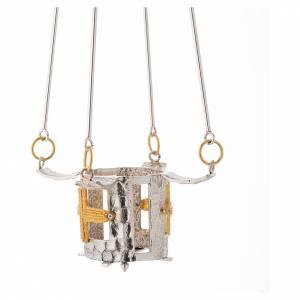 Lampade per il Santissimo: Lampada per Santissimo da appendere bronzo h. 75 cm