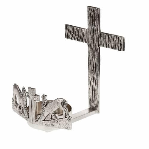 Lampada per Santissimo da muro cervi alla fonte s1