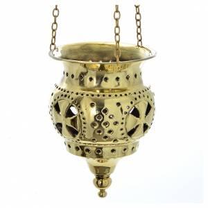 Lampe orientale pour église Moines Bethléem h 13 cm s1
