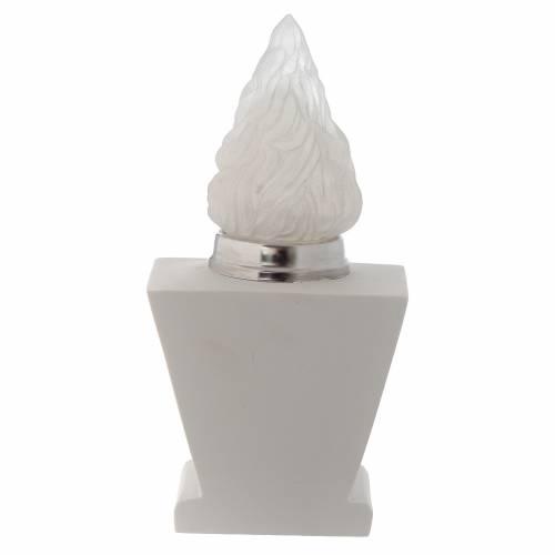 Lanterne carrée avec flamme Christ en marbre reconstitué s3