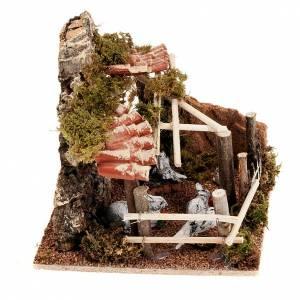 Lapin dans terrier avec toit et toiles, pour crèche s2