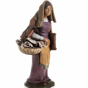 Laundress manger scene terracotta 18 cm s2