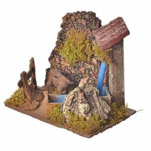 Fontane Presepe: Lavatoio con pompa  20x14 h. 20 cm