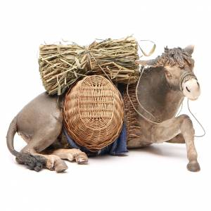 Laying donkey 30cm, Angela Tripi Nativity figurine s1