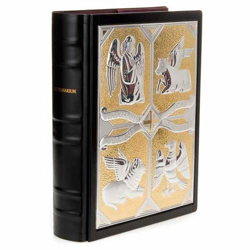 Leather slipcase for Lectionary with Evangelists plaque s1