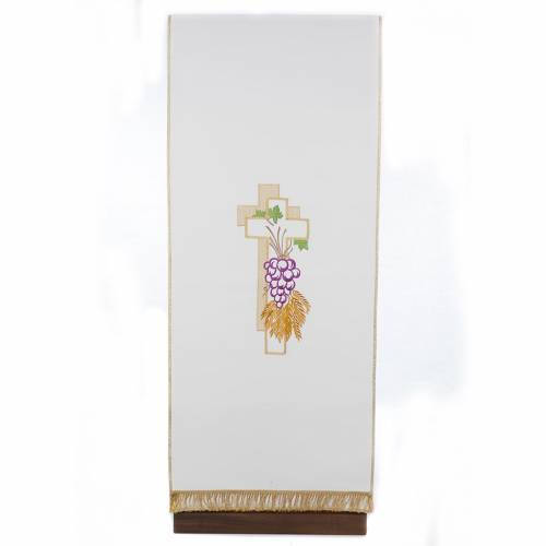 Lectern Cover, cross, grapes, wheat, in liturgical colours s1