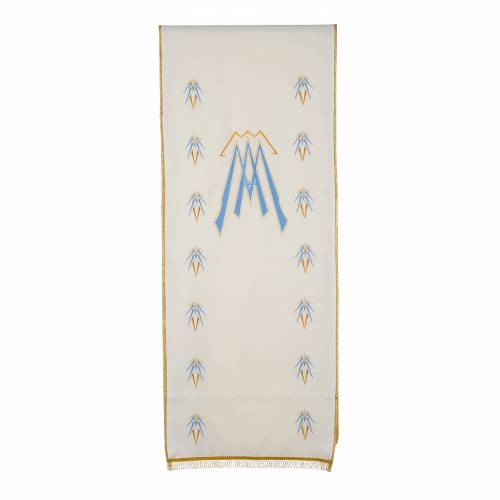 Lectern Cover in polyester with Marian symbol s1