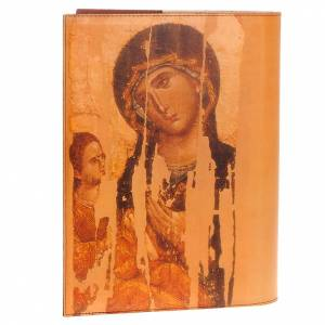 Lectionary covers: Lectionary cover in real leather, Christ and Our Lady icon