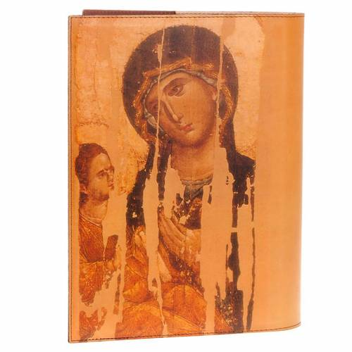 Lectionary cover in real leather, Christ and Our Lady icon s2