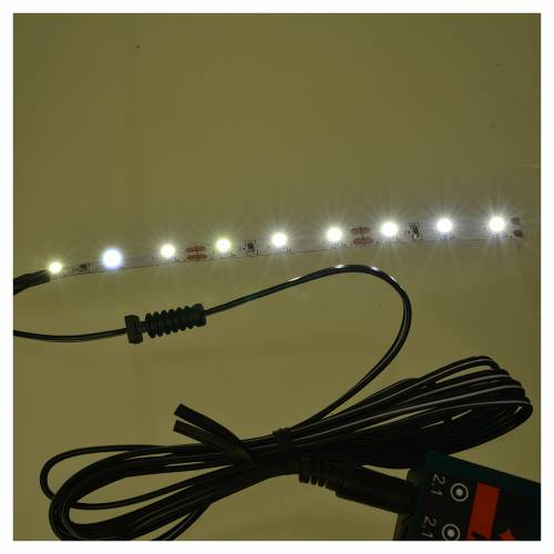 LED strip with 9 lights 0,8x12cm, cold white for Frisalight s2