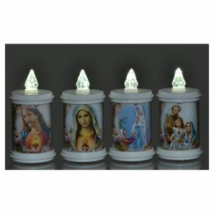 Votive candles: LED votive candle, white, lasting 90 days