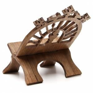 Leggio tavolo scolpito noce italiano monaci Betlemme s3