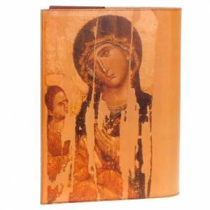 Deckel für Lektionar: Lektionareinband echte Leder Ikone Kristus und Madonna