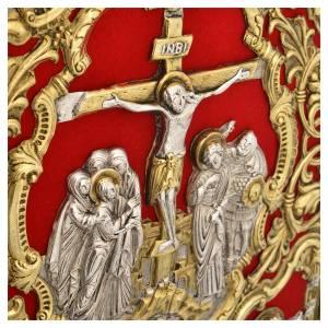 Deckel für Lektionar: Lektionareinband vergoldeten Messing Kreuzigung Szene