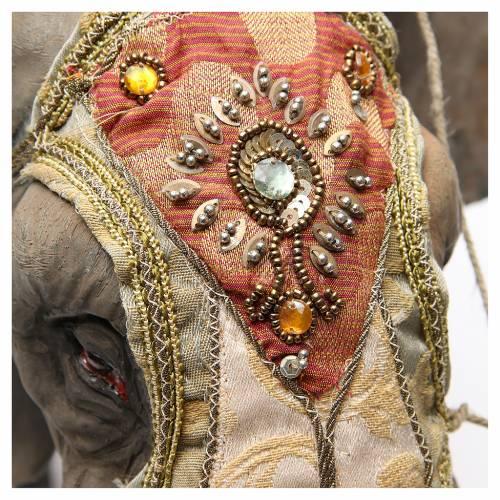 Éléphant avec Roi et serviteur crèche Angela Tripi 30 cm s7
