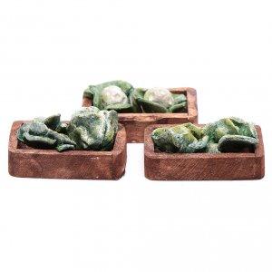 Miniature food: Lettuce boxes set of 3 pieces