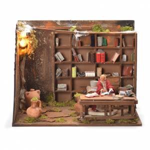 Libreria 12 cm presepe napoletano s1