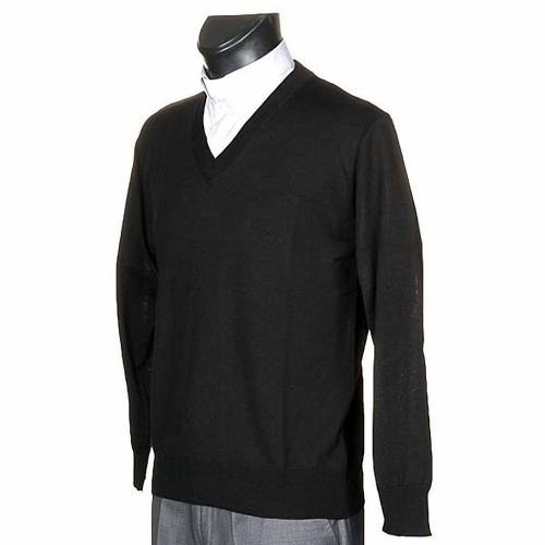 Light wool V-neck pullover s2