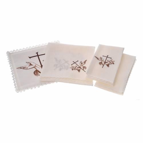 Linge d'autel 100% lin symbole stigmates s2