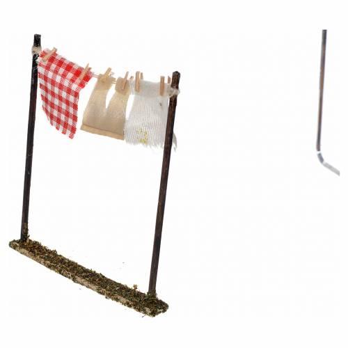 Linge étendue en miniature crèche Naples 10x10 s2