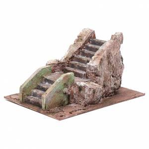 Little ancient nativity scene staircase 10x15x20 cm s2