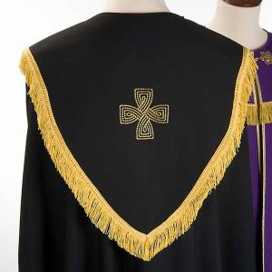 Liturgical cope with gold cross, black or purple s5