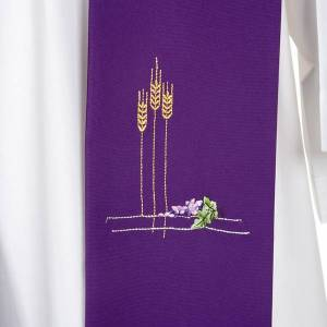 Liturgical stole with ears of wheat and grapes, coloured s6