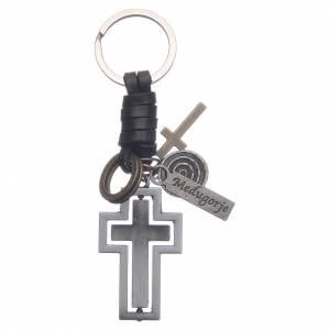 Cruces, Imanes, Objetos Medjugorje: Llavero metal y piel Medjugorje