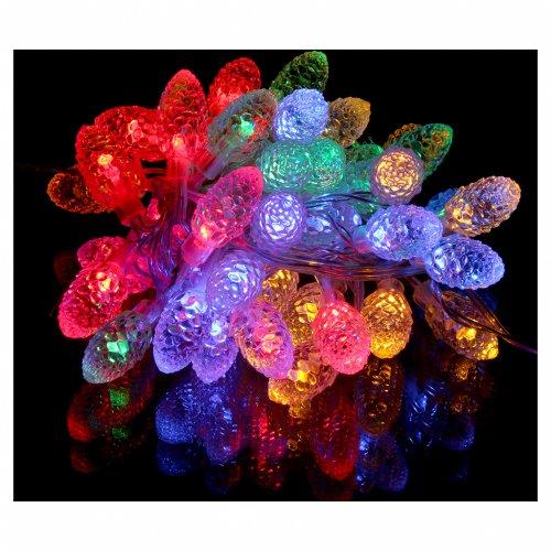 Luce natalizia Pigne 40 led multicolor interno esterno s2