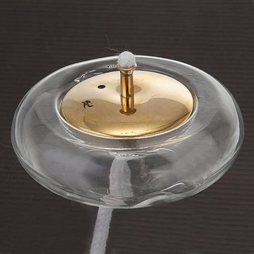 Galleggiante per cera liquida in vetro e ottone s3