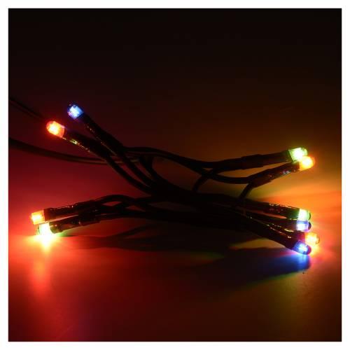 Luz Navidad esferas 10 pz varios colores para interno s2