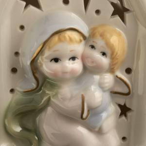 Madonna con bimbo quadretto ceramica s3