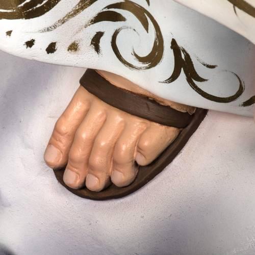 Madonna di Fatima 120 cm pasta di legno dec. elegante s6