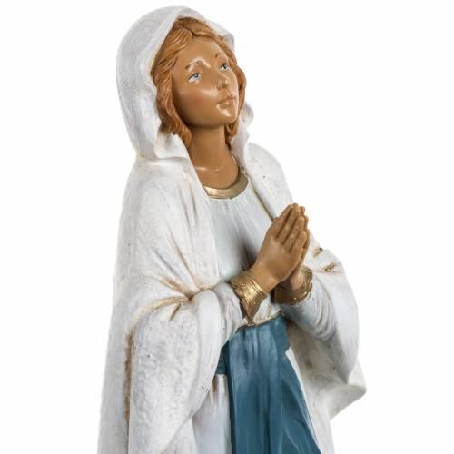 Madonna di Lourdes 30 cm Fontanini tipo legno s3
