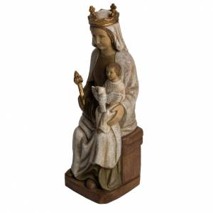 Madonna of Rosay statue in painted Bethléem wood, 42 cm s3