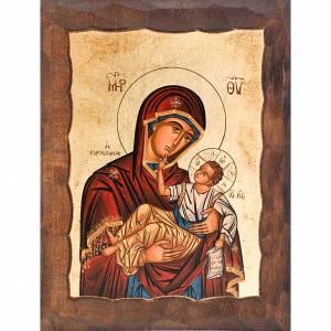 Íconos Pintados Grecia: Madre de Dios de las perlas