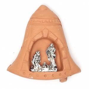 Magnet Bell terracotta Nativity s1