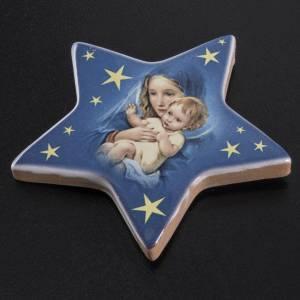 Magnete ceramica stella Maria con bambin Gesù s2