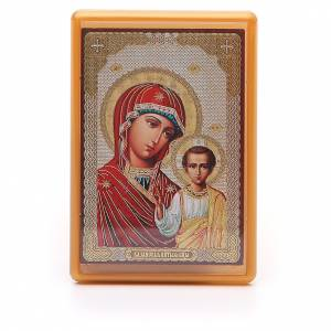 Magneti dei Santi, Madonna, Papa: Magnete russo plexiglass Kazanskaya 10x7