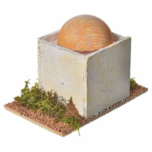Maison arabe avec coupole pour crèche 8x14x9 cm s4