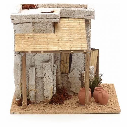 Maison arabe en miniature avec atelier du potier crèche s2