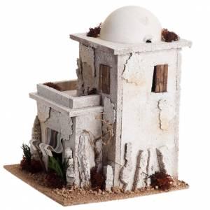 Maison arabe en miniature double pour crèche Noel s5